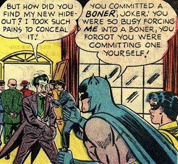 8 Famous Superhero Memes That Are Even Dumber In Context Joker being arrested by Batman and Robin for boner crimes