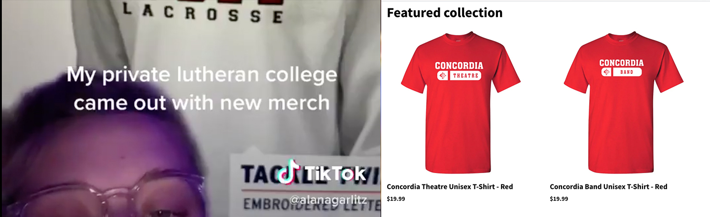 Concordia University in Michigan's Acronym Merch Is An Internet Mystery For The Ages