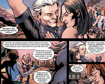 5 Real-But-Bananas Plots You Won't See On Wandavision  Ultimates Quicksilver with the Scarlet Witch