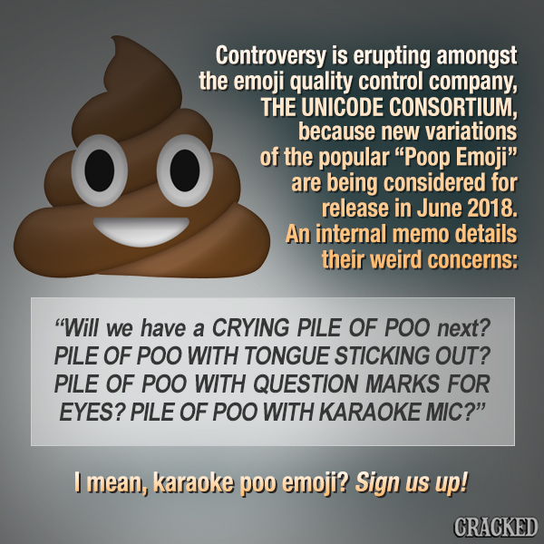 The Unicode Consortium Is Deciding The Fate Of The Poo Emoji