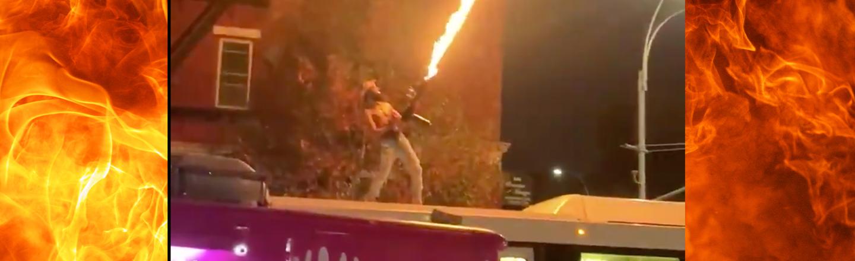 Flamethrower-toting Man Hops On Bus, Spews Fire