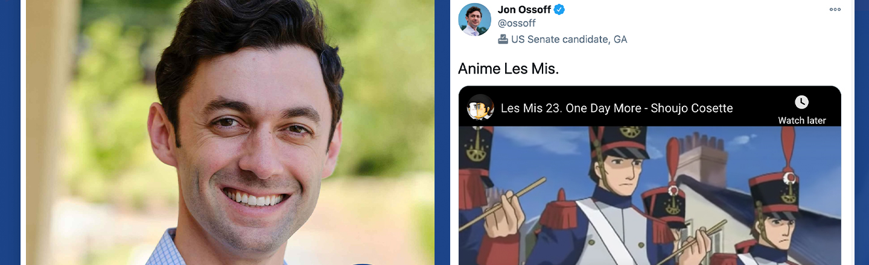 Jon Ossoff Leads Georgia Runoff Race, Could Be America's First Anime Fan Senator
