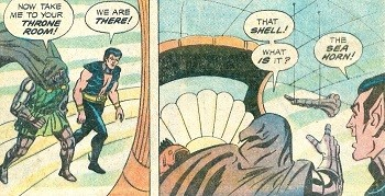8 Famous Superhero Memes That Are Even Dumber In Context Dr Doom and Namor talking about the horn that goes toot