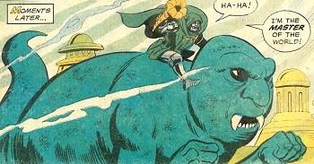 8 Famous Superhero Memes That Are Even Dumber In Context Dr Doom has the tooting horn that makes him Master of the World