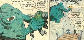 8 Famous Superhero Memes That Are Even Dumber In Context  Dr Doom captured by the monster who was commanded by the tooting horn