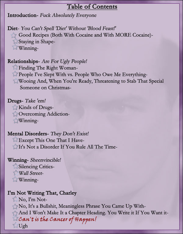 Charlie Sheen's Guide to Mental Wellness