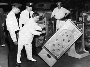 Back In The Day, Pinball Was Most Criminal Game In America - Fiorello LaGuardia destroying pinball machines
