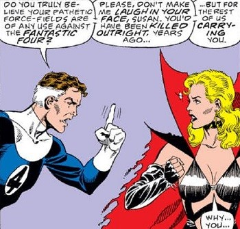 8 Famous Superhero Memes That Are Even Dumber In Context  Reed Richard arguing with Sue Storm