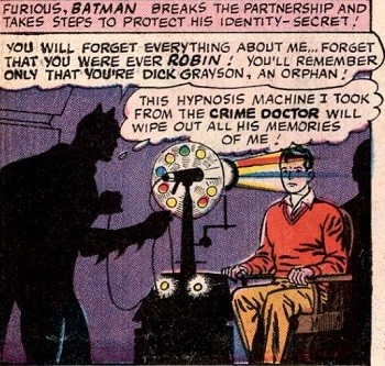 8 Famous Superhero Memes That Are Even Dumber In Context  Batman hypnotizing Robin