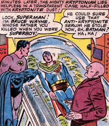 8 Famous Superhero Memes That Are Even Dumber In Context  Lex Luthor and Batman captured Superman