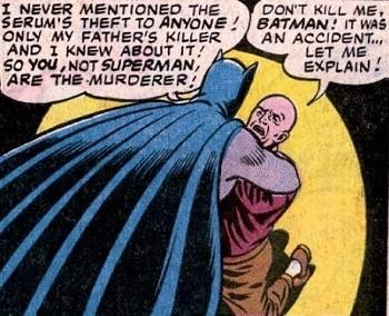 8 Famous Superhero Memes That Are Even Dumber In Context  Batman strangling Lex Luthor