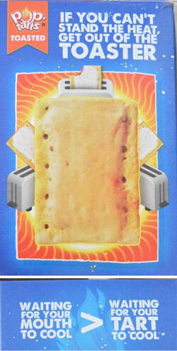 text on pop-tarts box