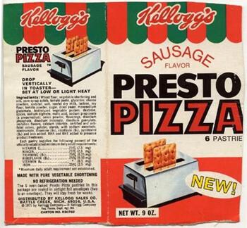 Kellogg's presto pizza box