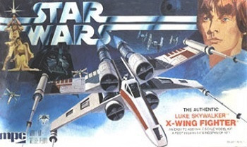 STAR WAR THE ACENTC LLKE SHYALKER X-WInNG FIGHTER mpc
