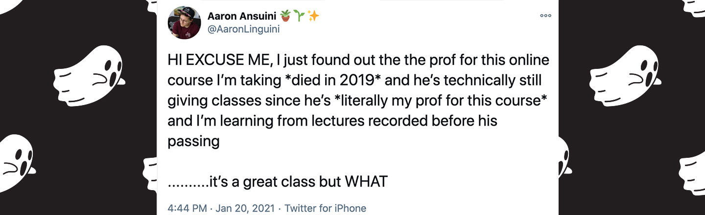 Deceased Professor Allegedly Teaches Course From Beyond The Grave