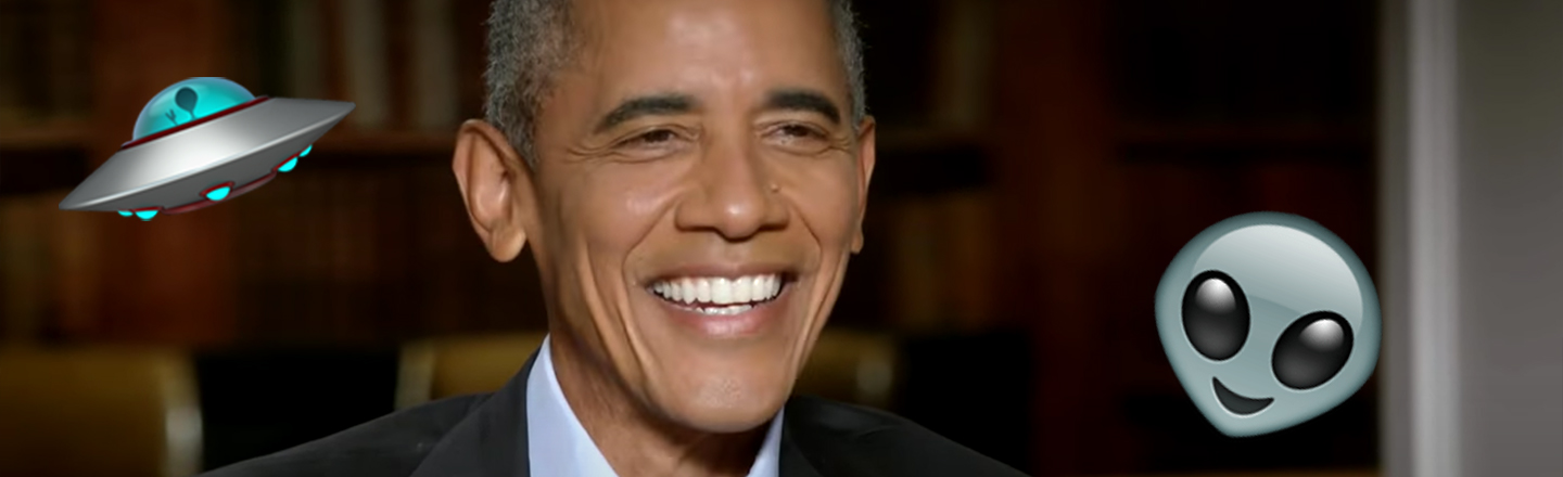 UFOs May or May Not Exist, President Obama Says
