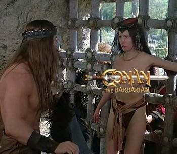 5 Classic Characters Nearly Every Adaptation Gets Wrong - Arnold Schwarzenegger as Conan the Barbarian seeing a topless woman while imprisoned