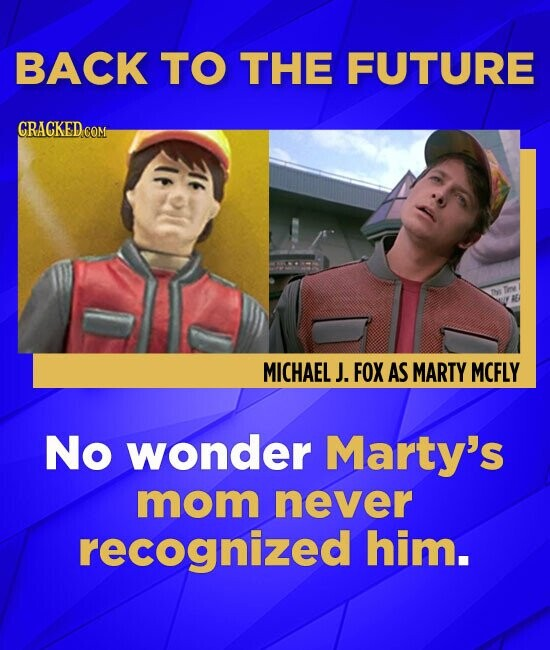 BACK TO THE FUTURE CRACKED COM MICHAEL J. FOX AS MARTY MCFLY No wonder Marty's mom never recognized him.