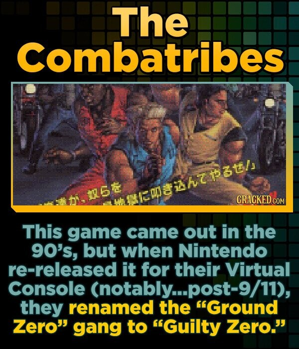 The Combatribes methtotl CRACKED COM This game came out in the 90's, but when Nintendo re-released it for their Virtual Console (notably...post-S they