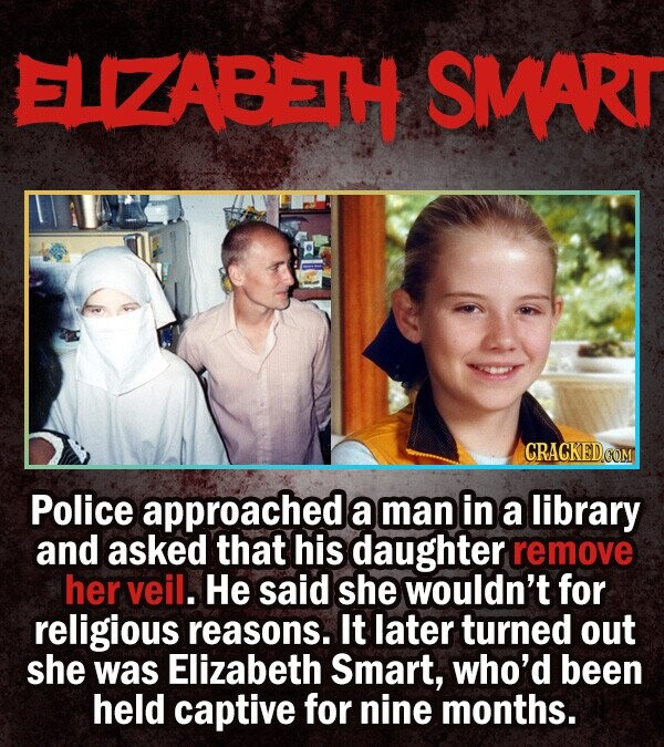 SMART CRACKEDOOM Police approached a man in a library and asked that his daughter remove her veil. He said she wouldn't for religious reasons. It late