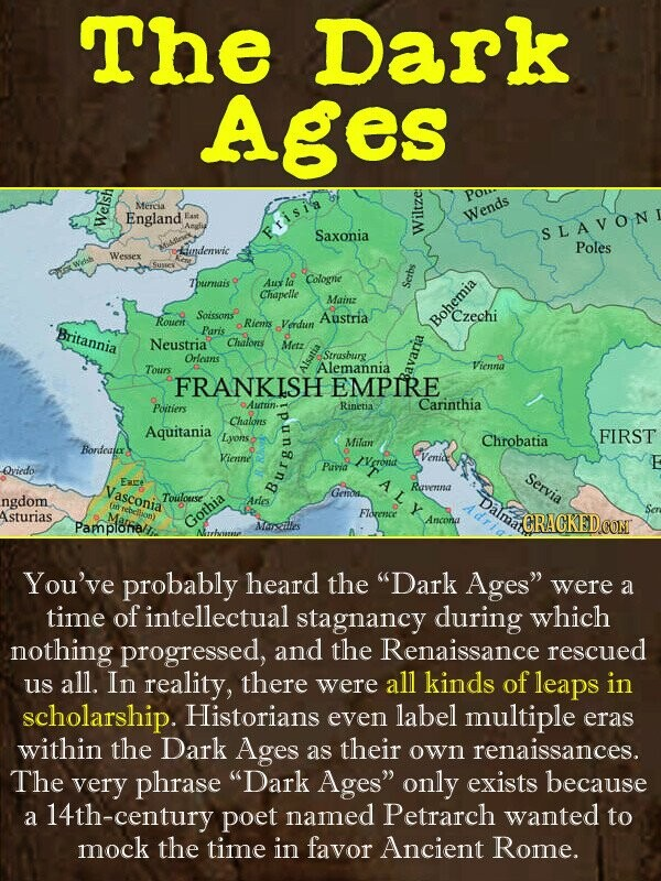 The Dark Ages PO- MErCA England East Wends Welsh Erisis Saxonia S LAVON wi iundemwic Poles Wessex Tburnais Au Cologne Chapelle Main Serbs SoissonsP Cz