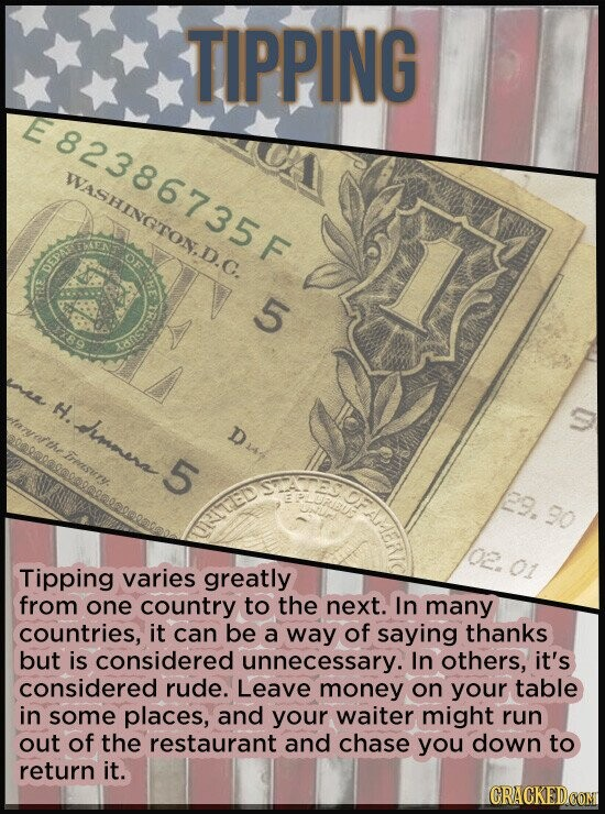 TIPPING WASHinGTon T OF DEPATE 5 nea H. aiar'the immera D Treesuny 5 29.30 UTed 01 Tipping varies greatly from one country to the next. In many countr
