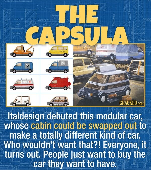 THE Trrbine Turbine n2 CAPSULA biiolabues CRACKEDG Italdesign debuted this modular car, whose cabin could be swapped out to make a totally different k