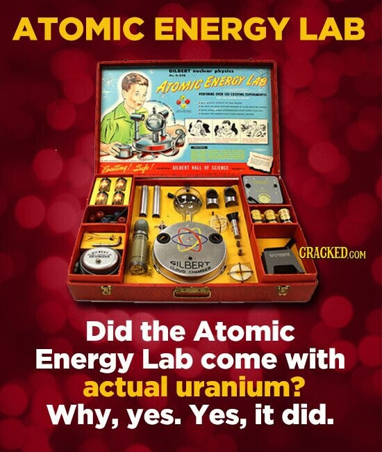 ATOMIC ENERGY LAB CIET pHyi ENERGY Ls ATOMIC Elany Sap! OILRT ALL SEHSCE CRACKED.COM E GILBERT Clouo Did the Atomic Energy Lab come with actual uraniu