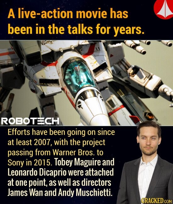 A live-action movie has been in the talks for years. Efforts have been going on since at least 2007, with the project passing from Warner Bros. to Sony in 2015. Tobey Maguire and Leonardo Dicaprio were attached at one point, as well as directors James Wan and Andy Muschietti.