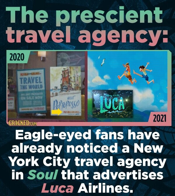 The prescient travel agency: 2020 am TRAVEL THE WORLD EE PEXKR S hur Iepesso UCA T 2021 CRACKED Eagle-eyed fans have already noticed a New York City t