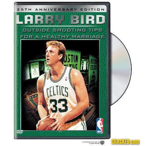 25TH ANNIVERSARY EDITION LARRY BIRD OUTSIDE SHOOTING TIPS FOR A HEALTHY MARRIAGE STCN IOST tAr CLK CELTICS 33 DVO CRACKED.G
