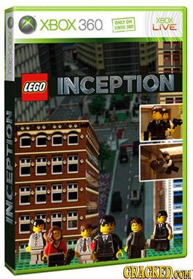 XBOX 360. XBOX ONLY XSROK 360 LIVE XBOX LEGO INCEPTION C'C'0'O EEEE EEBB CRAGKED CON