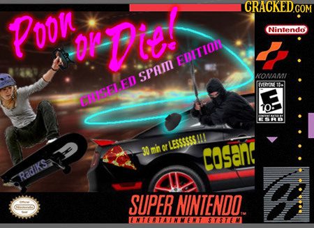 Poon Nintendo or Die Ittn sPam KONAMI eYONE LKISELEN OE 10: LESSSSSS 30 mn or Cosan Radiks SUPER NINTENDO. ENTERTAINMENT SYSTEM