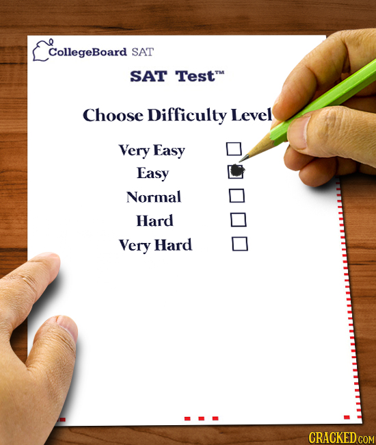 EcollegeBoard CollegeBoard SAT SAT Testm Choose Difficulty Level Very Easy Easy Normal Hard Very Hard CRACKED COM
