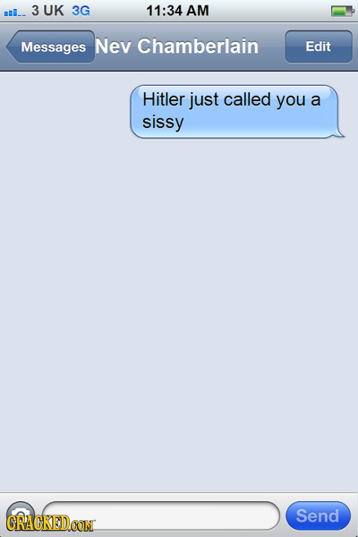 If Text Messages Could be Sent Into the Past
