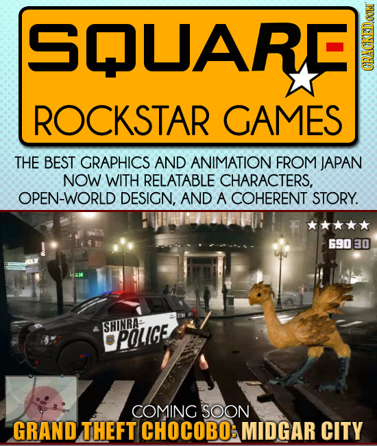 NMLARE CRACKEDCON ROCKSTAR GAMES THE BEST GRAPHICS AND ANIMATION FROM JAPAN NOW WITH RELATABLE CHARACTERS, OPEN-WORLD DESIGN, AND A COHERENT STORY. 69