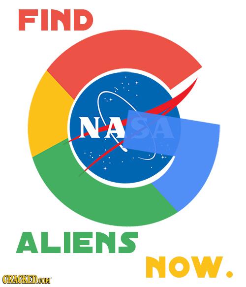 FIND NASA ALIENS NOW. CRACKEDCON