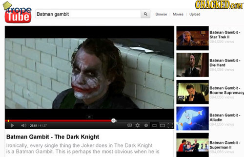 CRACKED.OOM trone Tube Batman gambit Brose Moves Upload Batman Gambit . Star Trek Batman Gambit Die Hard Batman Gambit - Bourne Supremacy HO Batman Ga