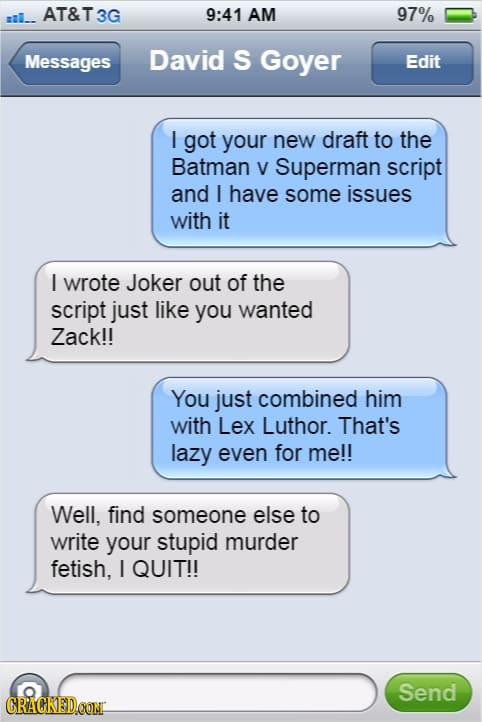 15 Recovered Messages That Would Explain Bad Movie Decisions