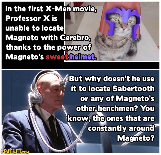 In the first X-Men movie, Professor X is unable to locate Magneto with Cerebro, thanks to the power of Magneto's sweet helmet. But why doesn't he use