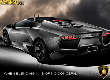 CRACKED CON LAMBORGHIN WHEN BLENDING IN IS OF NO CONCERN.
