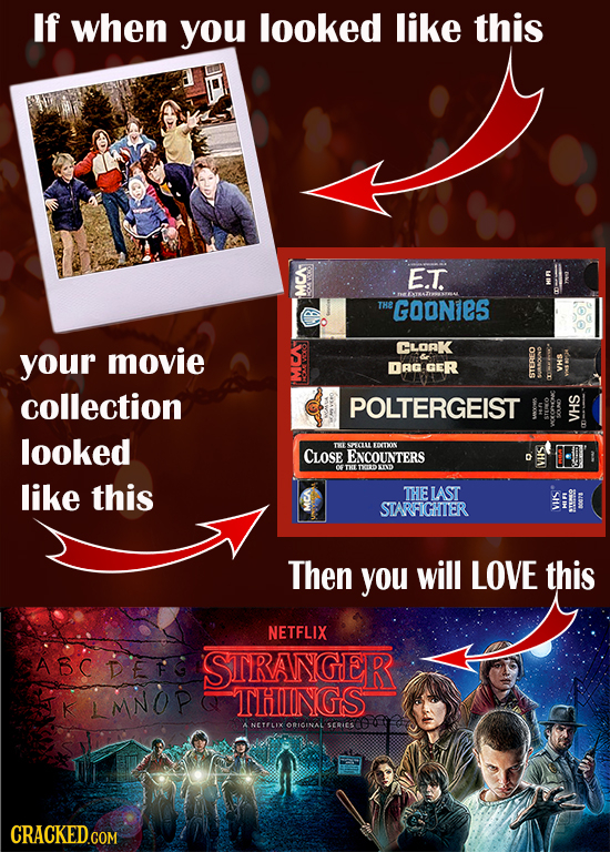 If when you looked like this E.T. THe GOONieS movie CLORK your S RG GER VHS 411. collection POLTERGEIST VHS looked Do S BDosow CLose ENCOUNTERS d VHS