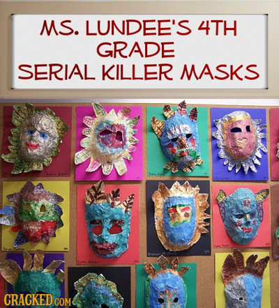 MS. LUNDEE'S 4TH GRADE SERIAL KILLER MASKS CRACKED COM