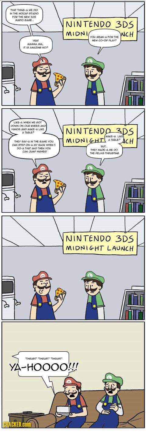 The First Time You Use The Nintendo 3DS [COMICS]