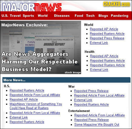 MAJORIEWS CRACKED. COM U.S. Travel Sports World Diseases Food Tech Blogs Pandering MajorNews Exclusive: World Reposted AP Article TE MCTFHPONC OVT Rep