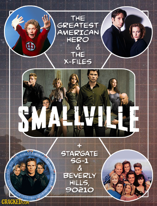 THE GREATEST AMERICAN HERO & THE X-FILES SMALLVILLE STARGATE 56-1 & BEVERLY HILLS, 90210 CRACKED.COM