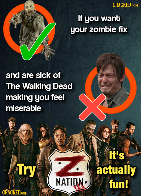 CRACKED.G COM If you want your zombie fix and are sick of The Walking Dead making you feel miserable It's Try actually NATION fun!