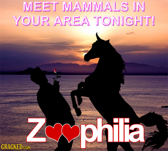 MEET MAMMALS IN YOUR AREA TONIGHT! Z philia CRACKED COM