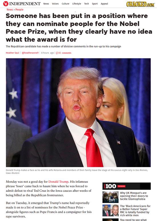17 'Real' Headlines The Media's Too Afraid To Write (2/12)