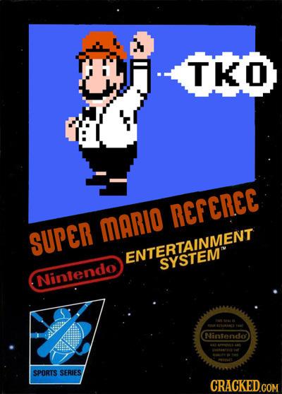 TKO REFEREE MARIO SUPER ENTERTAINMENT SYSTEM Nintendo AL 10904 Nintendo 89OVS SPORTS SERIES